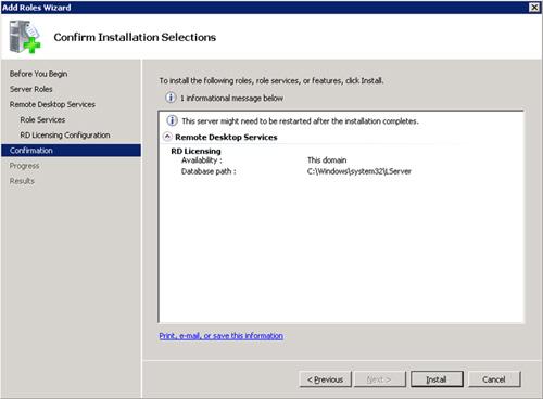 En la pantalla Confirm Installation Selections, revisamos toda la info, y si está OK click en Install