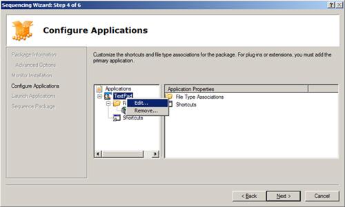 En la pantalla Configure Applications, es posible personalizar los accesos directos y las asociaciones de tipos de ficheros y aplicaciones
