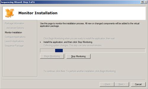 Esperamos hasta que se nos indique que iniciemos la instalación de la aplicación que deseamos virtualizar/secuenciar