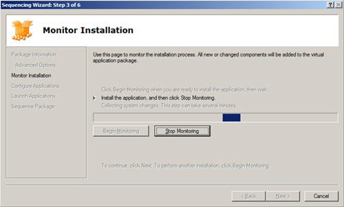 Finalizaremos la monitorización de la instalación de nuestra aplicación haciendo click en Stop Monitoring