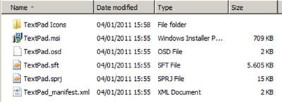 Conjunto de ficheros que forman nuestra aplicación, incluyendo el MSI