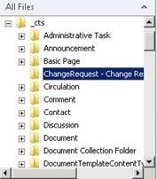 Realizado esto, ya habremos finalizado, por lo que si lo deseamos, podremos compilar, desplegar y probar nuestra solución de Visual Studio. Como curiosidad, y para comparar con el ejercicio que haremos a continuación (Solución Sandboxed), aprovechamos para mostrar el contenido del directorio _cts desde SharePoint Designer.