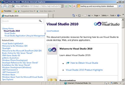 Si volvemos a intentar mostrar la ayuda de Visual Studio, el resultado será el esperado. Problema resuelto