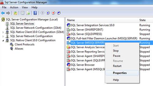 Lo primero que deberemos hacer es habilitar el acceso FILESTREAM a nivel de nuestra Instancia de SQL Server, lo cual se trata de una configuración a realizar en dos pasos. El primer paso es habilitar el almacenamiento FILESTREAM a nivel de Sistema Operativo, para lo cual utilizaremos la herramienta administrativa SQL Server Configuration Manager para mostrar el diálogo de Propiedades de nuestra instancia de SQL Server