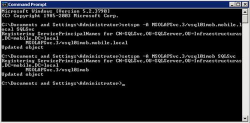 Configurar el SPN (Service Principal Name) MSOLAPSvc.3 para Analysis Services con setspn