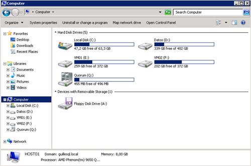 Una cosa que al principio llama la atención de los discos CSV, es que no utilizan letra de   unidad