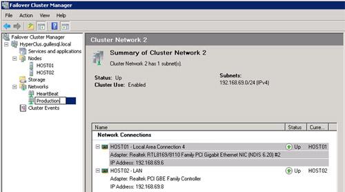 Ahora es un buen momento para renombrar las redes de nuestro Cluster