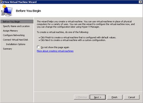 En la pantalla de bienvenida del asistente de creación de la nueva Máquina Virtual, click Next para continuar
