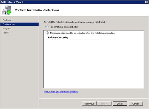 En la pantalla Confirm Installation Selections, click Install.