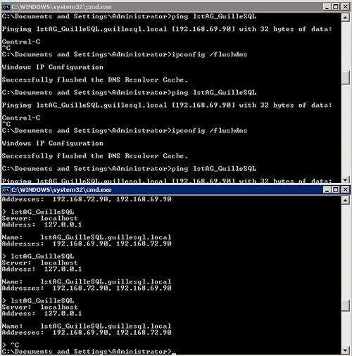 Nos hemos encontrado que todos los intentos de PING son realizados contra la IP en la misma Red en la que está el Controlador de Dominio