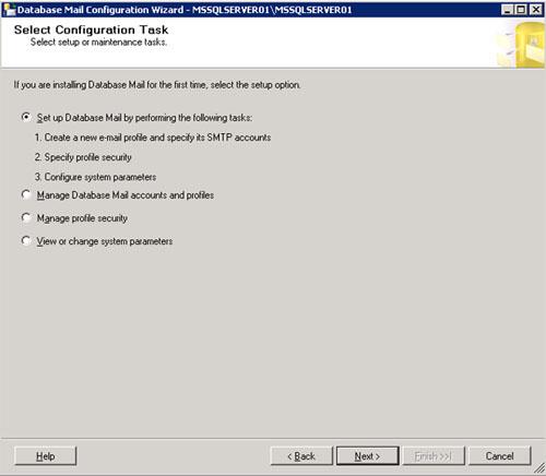 En la pantalla Select Configuration Task, seleccionaremos la opción que necesitemos en función de la configuración que tengamos que realizar. Click Next para continuar.
