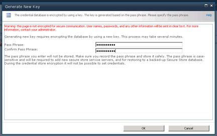 En el diálogo Generate New Key, deberemos especificar una Passphare. Click OK para continuar.