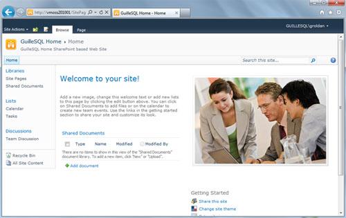 Genial. Ahora, si accedemos a nuestro Portal, ya no aparecen las opciones de Etiquetas Sociales, en la parte superior izquierda de la página principal.