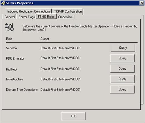 Mostrar los roles FSMO con el ReplMon de las Support Tools