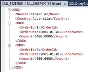 Ejemplo de utilización de la opción ELEMENTS en la cláusula FOR XML