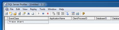 De momento, va todo bien. Tan sólo es la primera ejecución, y además, se trata de una Consulta SQL estática. No se han utilizado WorkTables, y evidentemente, no hay Eventos de Traza de tipo Hash Warning ni Sort Warning, como podemos ver en la siguiente pantalla capturada.