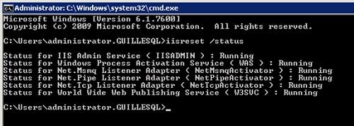 Y tatachán. Problema solucionado tras la instalación del Framework 4.5.2. El IIS ya está completamente OK, y volvemos a poder ejecutar el comando IISRESET sin problemas