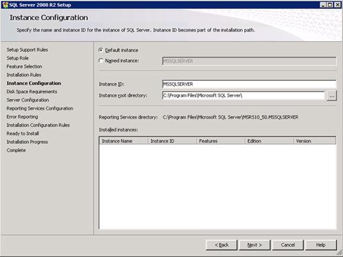 En la pantalla Instance Configuration especificar los datos de la instancia que se desea crear