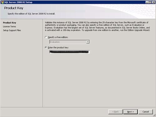 En la pantalla Product Key, nos aparecerá ya relleno el Serial del producto. Click Next