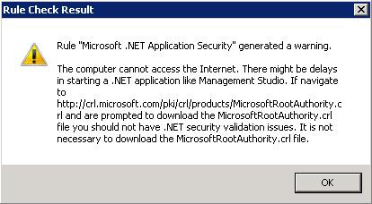 Warning conocido de lentitud con algunas aplicaciones como el SQL Server Management Studio