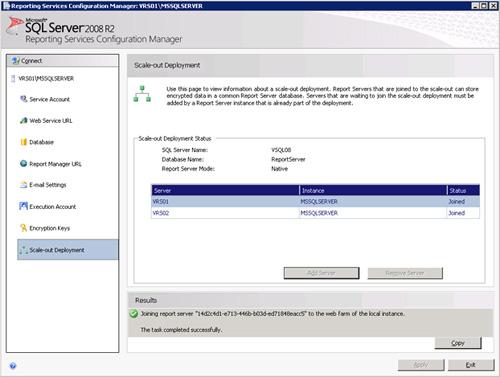 Realizado esto, habremos agregado satisfactoriamente dicho Nodo a la Granja de Reporting Services 2008 R2