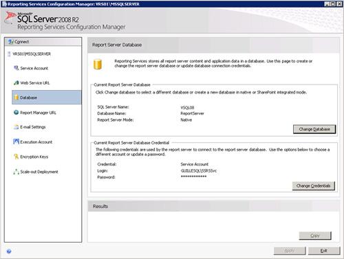 De vuelta a la página Database, podremos comprobar que la configuración de base de datos del primer Nodo ha quedado realizada