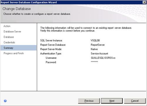 En la página Summary revisamos la información de resumen de la configuración a realizar