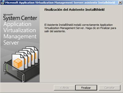 Finalizada la instalación del App-V Management Server