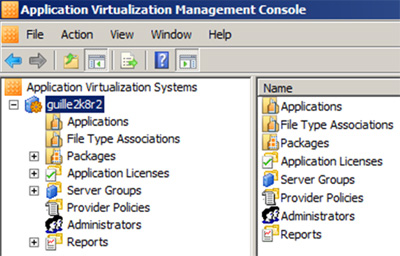App-V Management Console