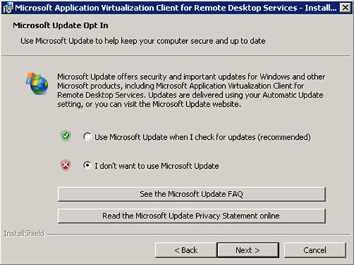 Estamos montando un entorno de laboratorio, por lo que no buscaremos por actualizaciones en Microsoft Update