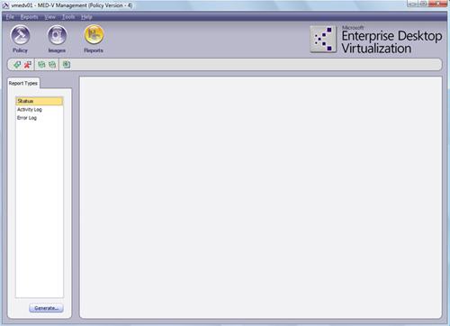 Y por último, se muestra el aspecto de la pantalla Reports