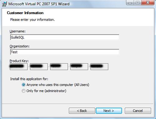 En la pantalla Customer Information, especificaremos los datos del cliente. Click Next para continuar