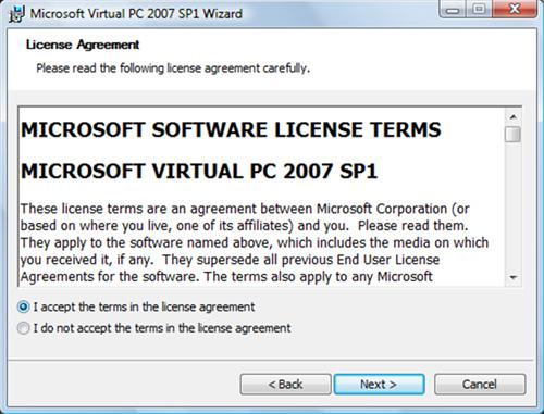 Aceptamos los términos de licencia. Click Next para continuar