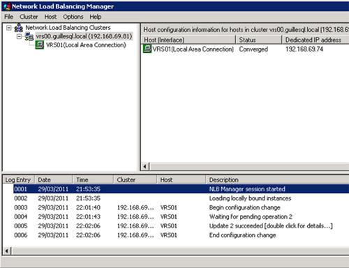 Realizado todo esto, el Cluster quedará finalmente configurado y funcionando con un único Nodo