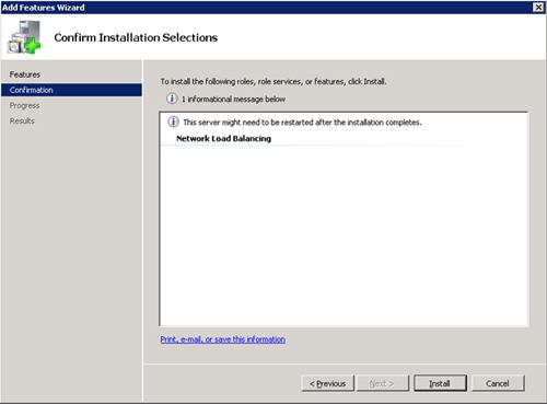 Revisamos que está todo OK en la pantalla Confirmation. Click Install.