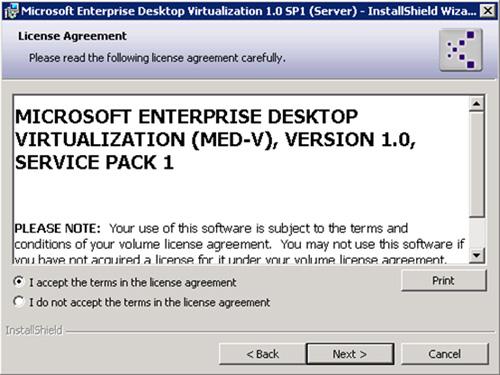 En la pantalla License Agreement, aceptar los términos de licencia, y click Next para continuar.
