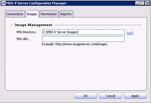 En la pestaña Images, deberemos especificar tanto el directorio local para el almacenamiento de las VMs (el campo VMs Directory, que debe ser la misma ruta que la utilizada al crear el Directorio Virtual de IIS anteriormente) como la URL de las VMs (el campo VMs URL, que debe ser la URL utilizada al crear el Directorio Virtual de IIS anteriormente)