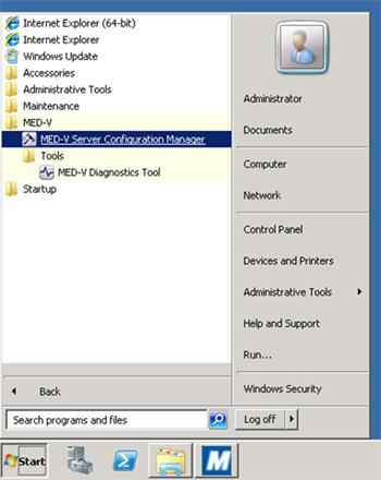 Realizado todo esto, ya tendremos nuestro MED-V Server 1.0 SP1, disponible para empezar a trabajar con él.