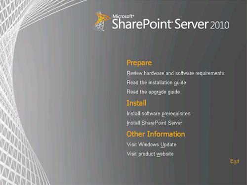 En la pantalla de Splash, click en Install software prerequisites.