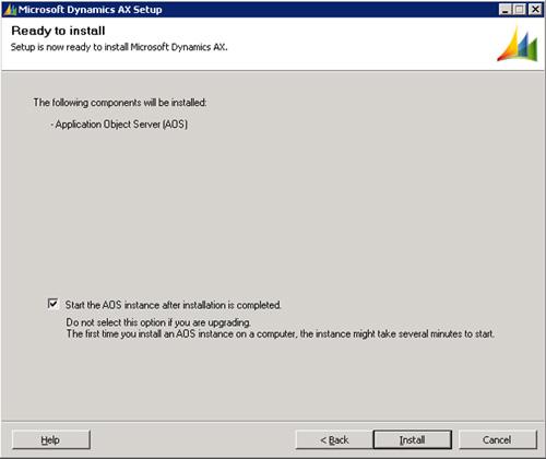 En la pantalla Ready to install, click Install.