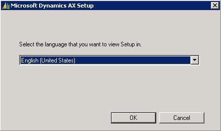 Ejecutaremos el instalador de Microsoft Dynamics AX 2009. Seleccionaremos el idioma de instalación.