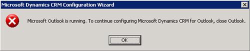 Mensaje acojonativo. Cerramos Microsoft Outlook, click OK, y continuamos con la configuración.