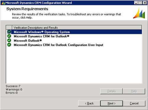 En la pantalla de System Requirements, click Next para continuar