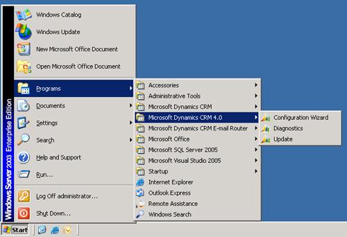 Una vez instalado el cliente Microsoft Dynamics CRM para Outlook, tendremos un nuevo grupo de programas