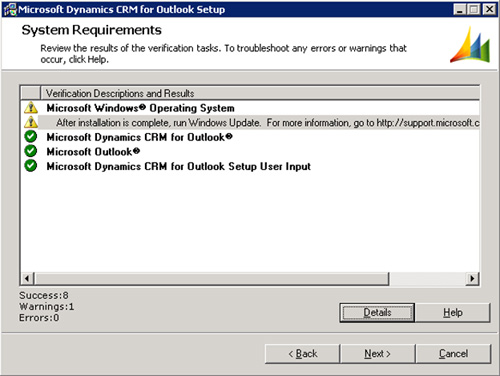 En la pantalla System Requirements, cabe la posibilidad de que se nos muestre un aviso recomendándonos que nos demos un paseo por Windows Update