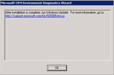 Podemos mostrar los detalles de dicho aviso (http://support.microsoft.com/kb/928365/en-us)