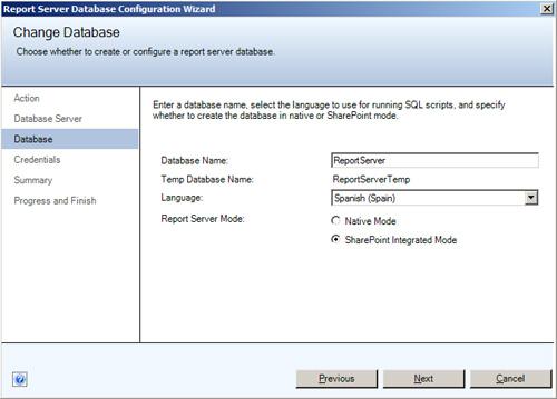 Change Database - Database