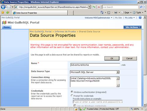 Data Source Properties