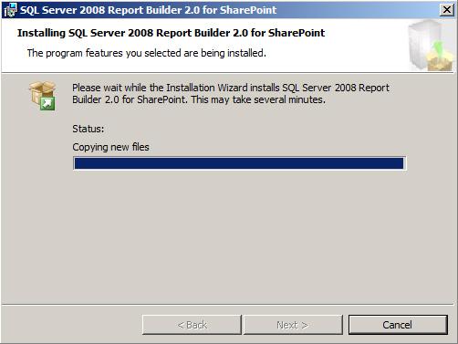 Instalar Report Builder 2.0 - Installing