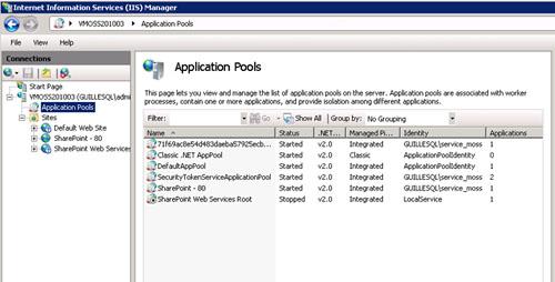 A nivel de IIS, podremos ver que ya tenemos desplegada la Aplicación Web del puerto 80 (SharePoint – 80).
